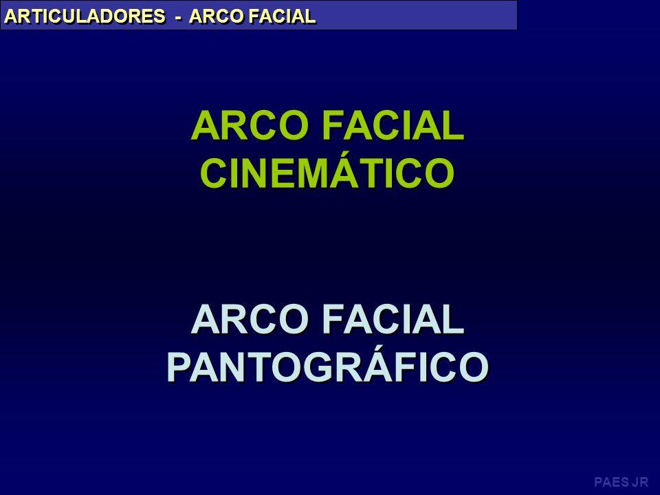 PAES JR ARTICULADORES - ARCO FACIAL ARCO FACIAL CINEMÁTICO ARCO FACIAL PANTOGRÁFICO ARCO FACIAL CINEMÁTICO ARCO FACIAL PANTOGRÁFICO