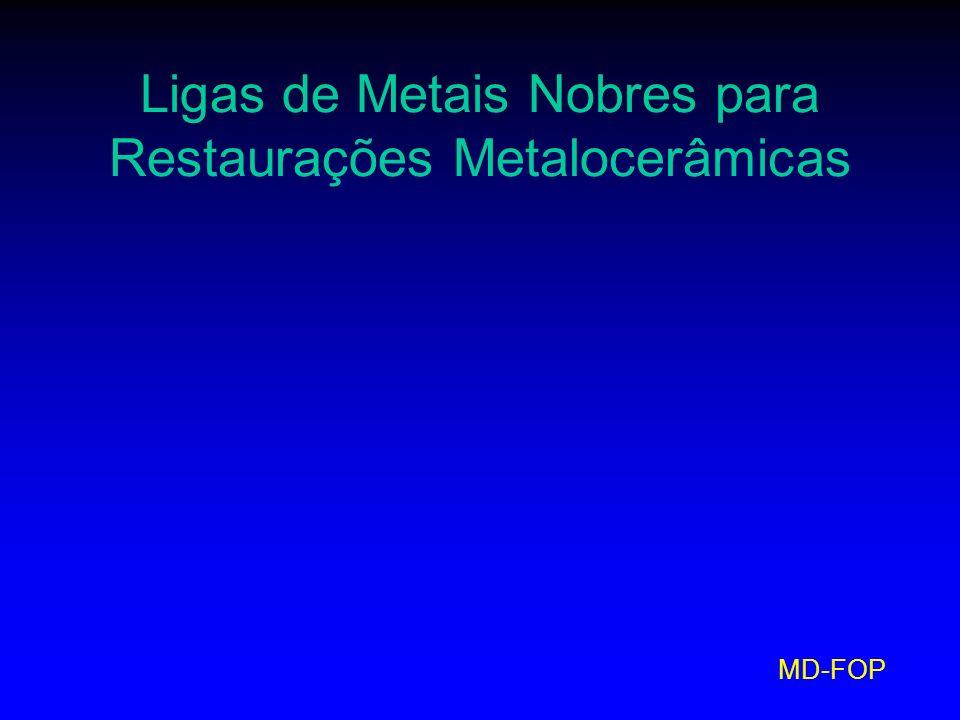 MD-FOP Ligas de Metais Nobres para Restaurações Metalocerâmicas