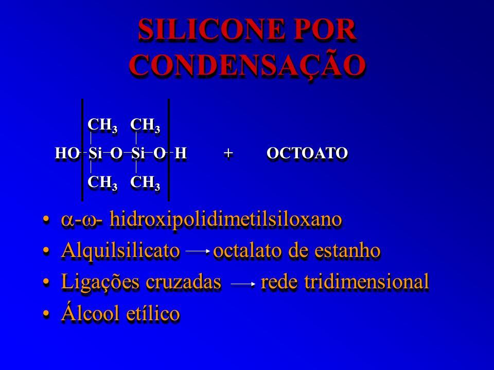 SILICONE POR CONDENSAÇÃO - - hidroxipolidimetilsiloxano - - hidroxipolidimetilsiloxano Alquilsilicato octalato de estanhoAlquilsilicato octalato de es
