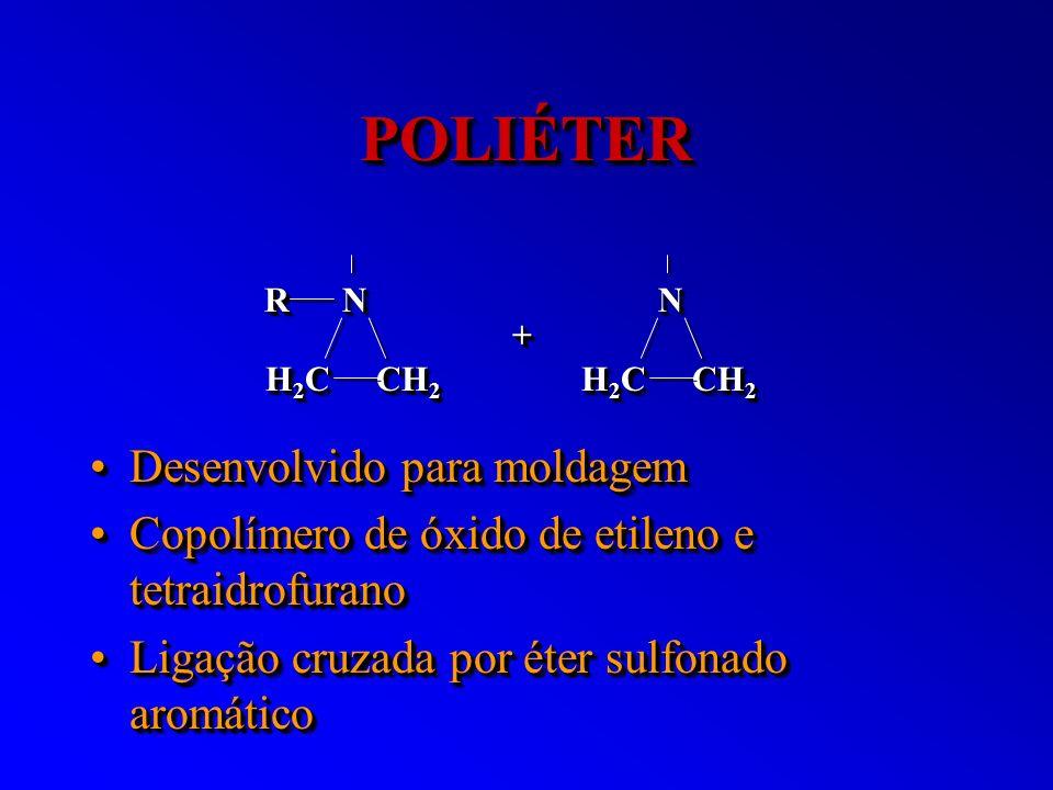 POLIÉTERPOLIÉTER Desenvolvido para moldagemDesenvolvido para moldagem Copolímero de óxido de etileno e tetraidrofuranoCopolímero de óxido de etileno e