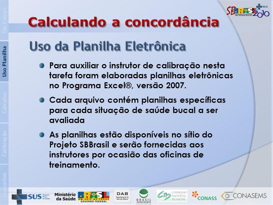 Conceitos Calibração Cálculos Uso Planilha Em Campo Para auxiliar o instrutor de calibração nesta tarefa foram elaboradas planilhas eletrônicas no Pro