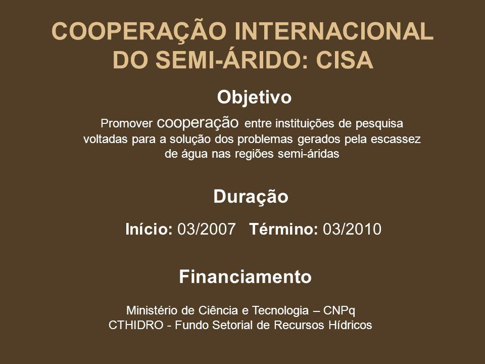 Instituições Participantes BRASIL UFAL- Universidade Federal de Alagoas; UFBA - Universidade Federal da Bahia; UFCG – Univ.