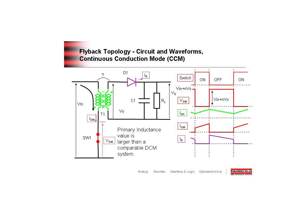 Características do Transformador do Conversor Flyback 1.O projeto do transformador para o conversor Flyback é diferente porque ele consiste de dois indutores acoplados magneticamente.