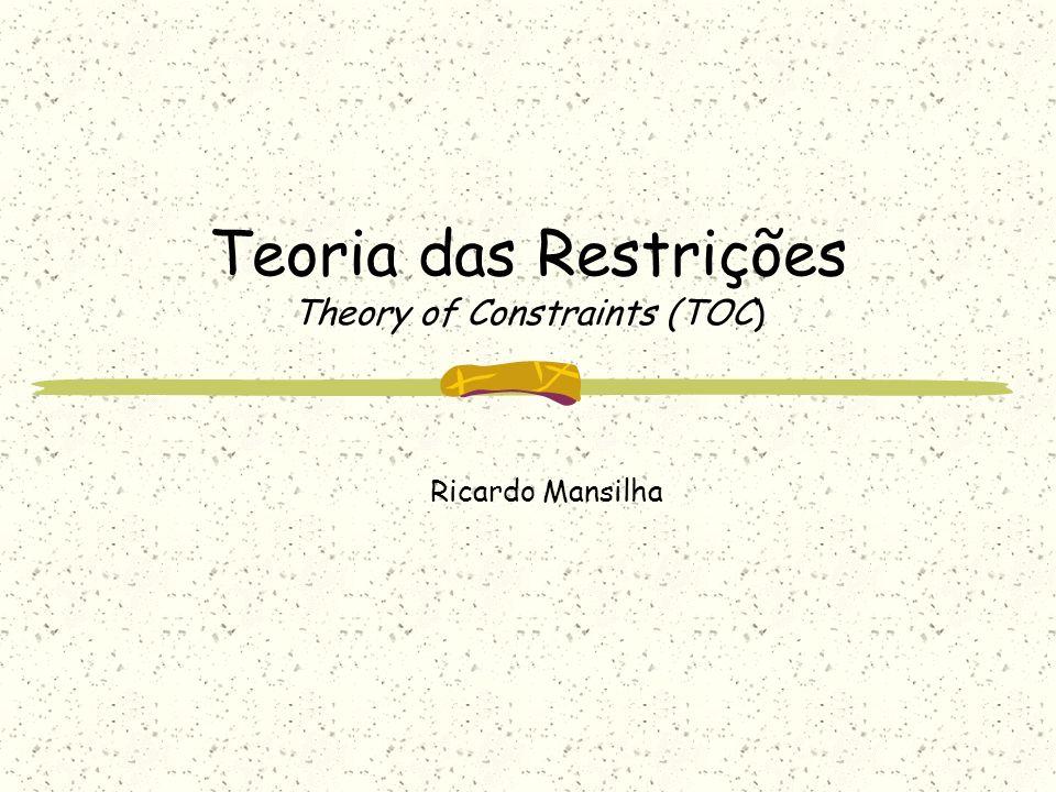 Teoria das Restrições Theory of Constraints (TOC) Ricardo Mansilha