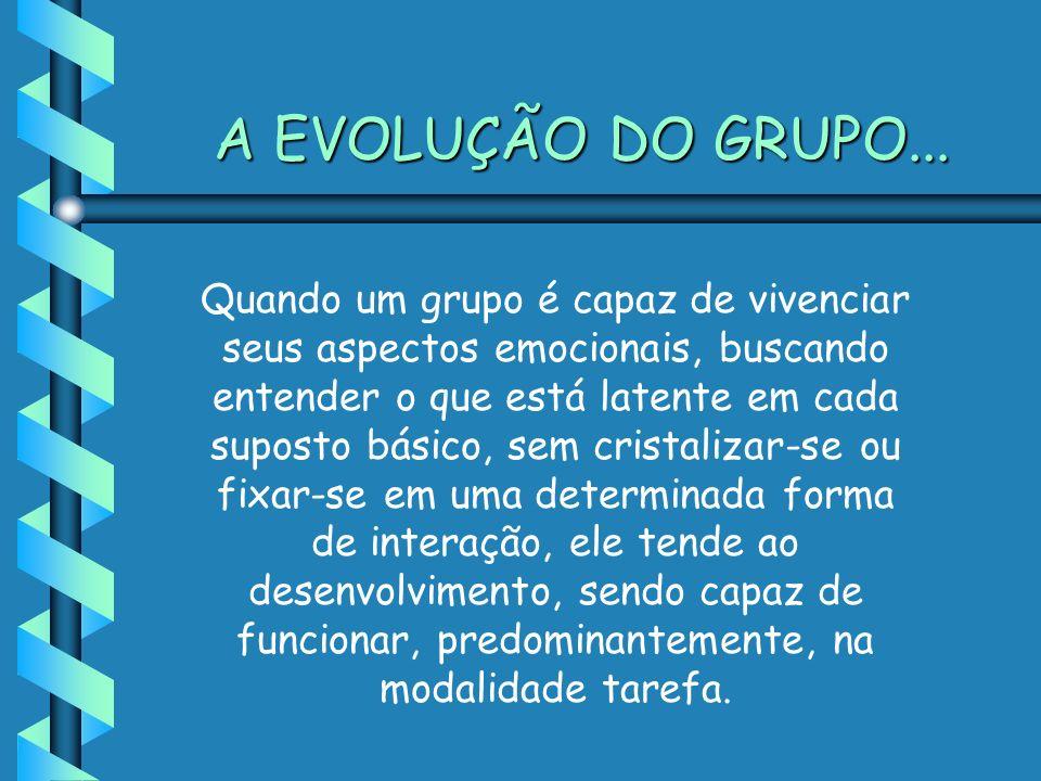 A EVOLUÇÃO DO GRUPO...