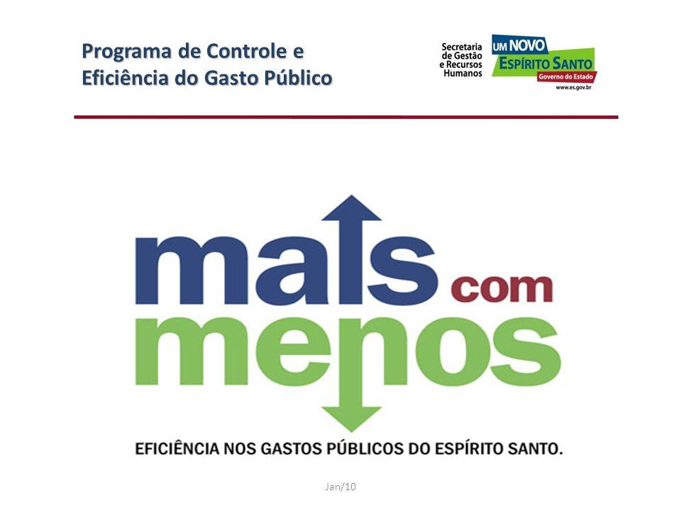 Programa de Controle e Eficiência do Gasto Público Jan/10
