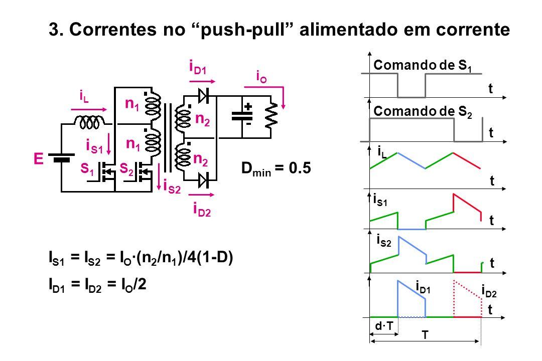 iLiL iOiO n1n1 n1n1 n2n2 n2n2 E S2S2 S1S1 i D1 i D2 i S2 D min = 0.5 i S1 T d·T t i D1 t i S2 t t i S1 iLiL t Comando de S 1 t Comando de S 2 i D2 I S