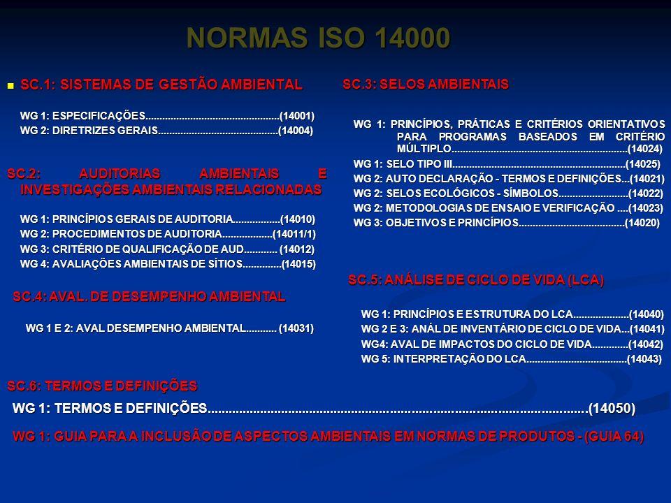 ISO 14.000 A ISO (International Organization for Standartization) é um organismo não governamental, cuja sede está na cidade de Genebra na Suíça. No B