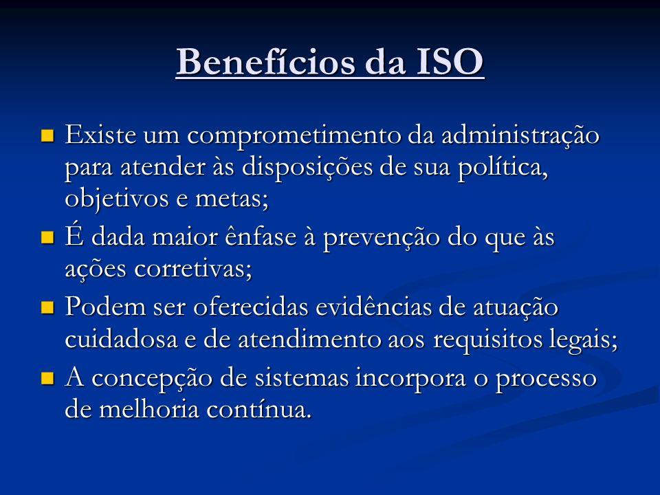 O QUE A NORMA ISO 14001 REQUER? COMPROMISSO À MELHORIA CONTÍNUA COMPROMISSO À MELHORIA CONTÍNUA COMPROMISSO À PREVENÇÃO DA POLUIÇÃO COMPROMISSO À PREV