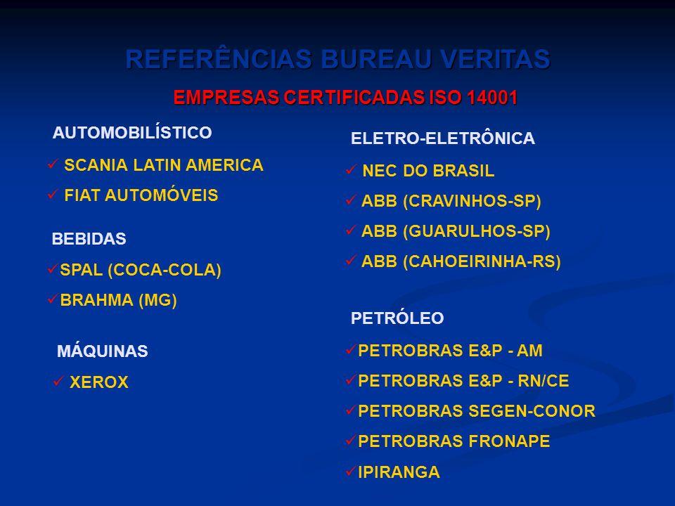 QUÍMICA E PETROQUÍMICA OPP COPESUL PETROQUÍMICA CUYO (ARGENTINA) HENKEL SIDERURGIA USIMINAS BELGO-MINEIRA TRATAMENTO DE EFLUENTES CETREL VIDROS CEBRAC