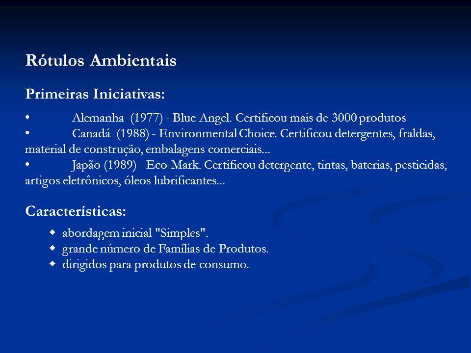 Pontos básicos a ressaltar sobre rotulagem: difere da Certificação convencional de produtos que adotam Normas (requisitos mínimos de qualidade ) famíl