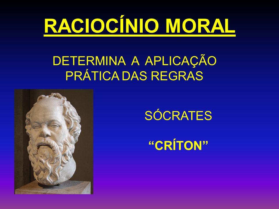 RACIOCÍNIO MORAL SÓCRATES CRÍTON DETERMINA A APLICAÇÃO PRÁTICA DAS REGRAS