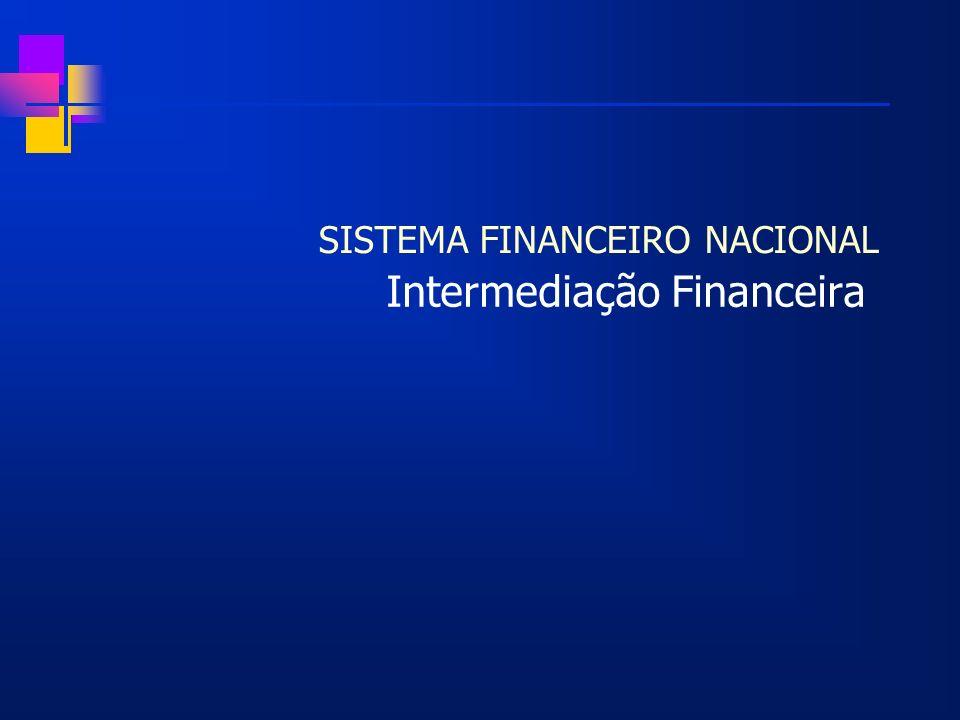 SISTEMA FINANCEIRO NACIONAL Intermediação Financeira