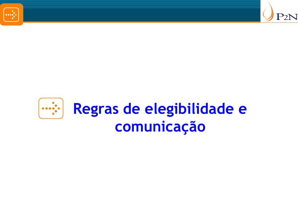 Regras de elegibilidade e comunicação