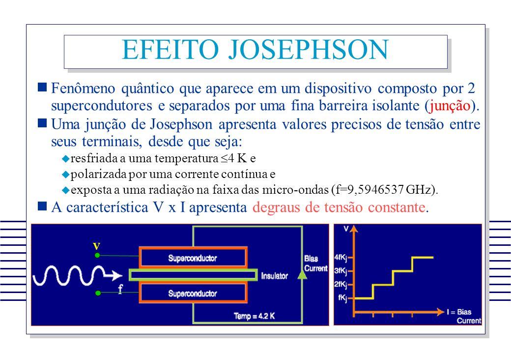 Fenômeno quântico que aparece em um dispositivo composto por 2 supercondutores e separados por uma fina barreira isolante (junção). Uma junção de Jose