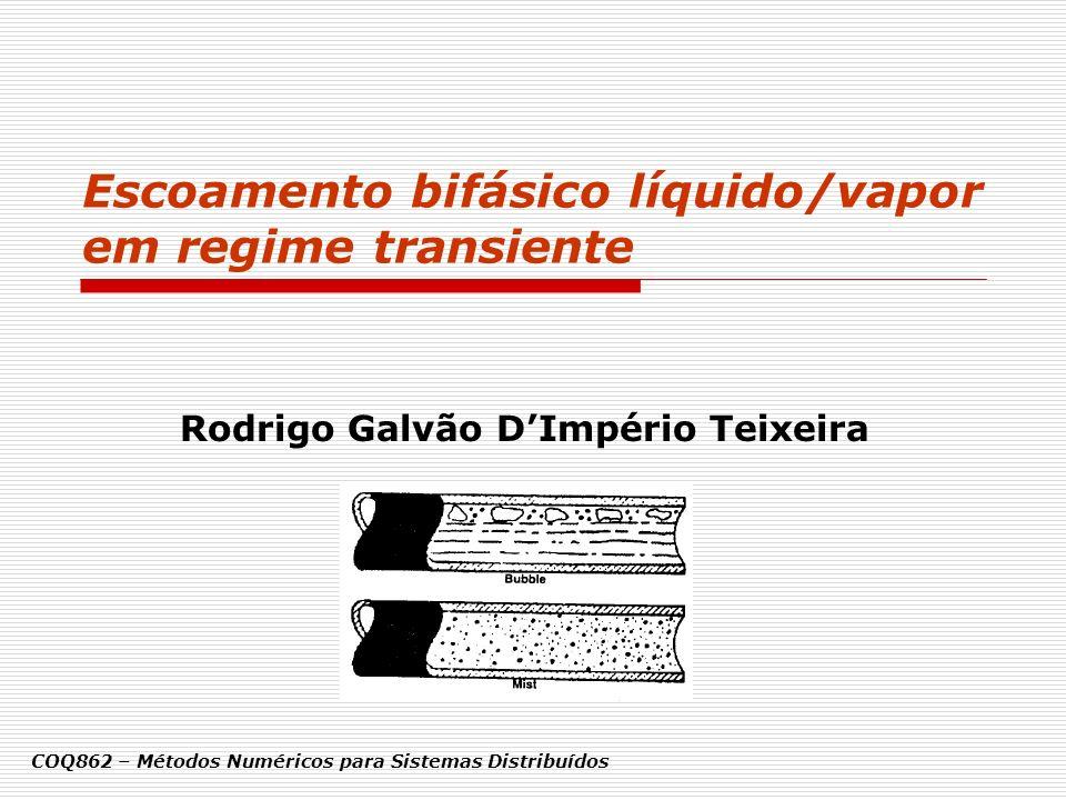 Escoamento bifásico líquido/vapor em regime transiente Rodrigo Galvão DImpério Teixeira COQ862 – Métodos Numéricos para Sistemas Distribuídos