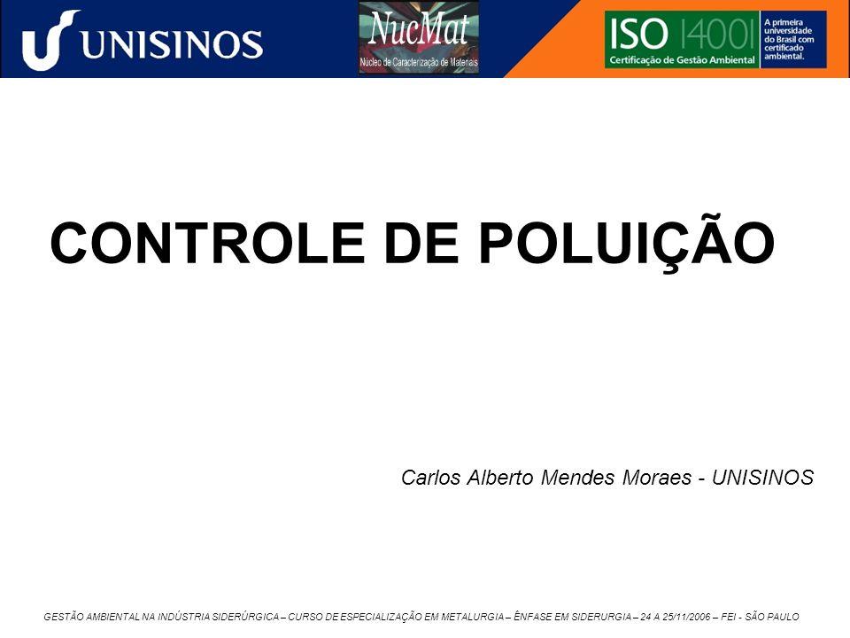 GESTÃO AMBIENTAL NA INDÚSTRIA SIDERÚRGICA – CURSO DE ESPECIALIZAÇÃO EM METALURGIA – ÊNFASE EM SIDERURGIA – 24 A 25/11/2006 – FEI - SÃO PAULO CONTROLE