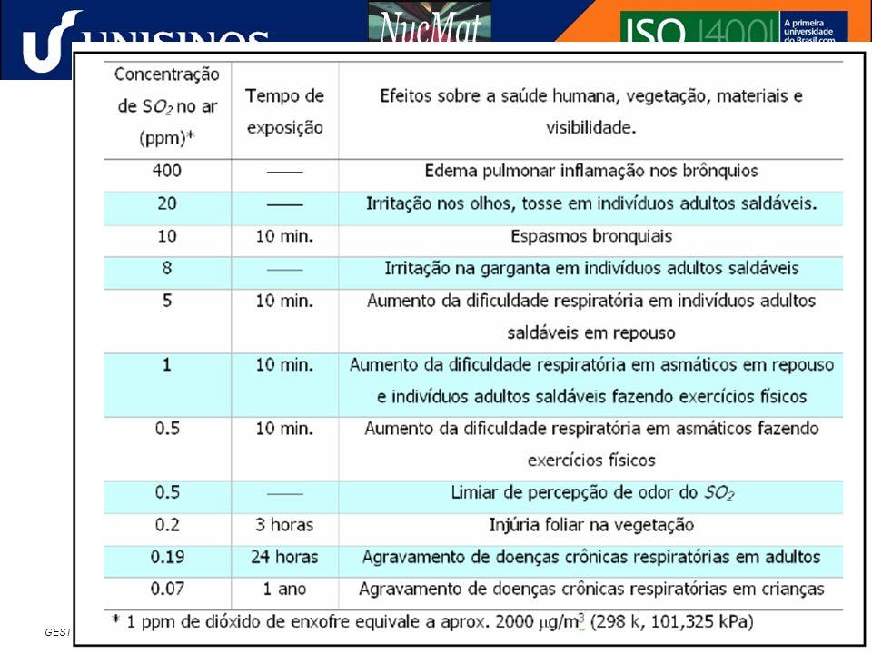 GESTÃO AMBIENTAL NA INDÚSTRIA SIDERÚRGICA – CURSO DE ESPECIALIZAÇÃO EM METALURGIA – ÊNFASE EM SIDERURGIA – 24 A 25/11/2006 – FEI - SÃO PAULO