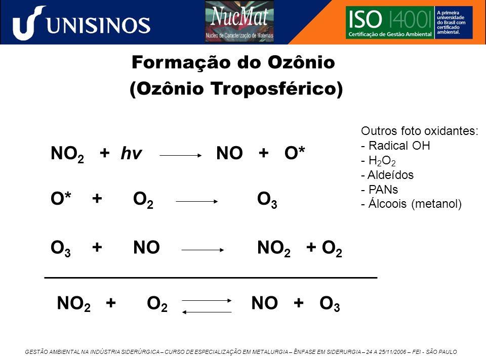 GESTÃO AMBIENTAL NA INDÚSTRIA SIDERÚRGICA – CURSO DE ESPECIALIZAÇÃO EM METALURGIA – ÊNFASE EM SIDERURGIA – 24 A 25/11/2006 – FEI - SÃO PAULO NO 2 + hv