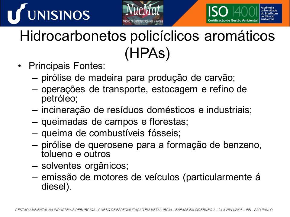 GESTÃO AMBIENTAL NA INDÚSTRIA SIDERÚRGICA – CURSO DE ESPECIALIZAÇÃO EM METALURGIA – ÊNFASE EM SIDERURGIA – 24 A 25/11/2006 – FEI - SÃO PAULO Hidrocarb