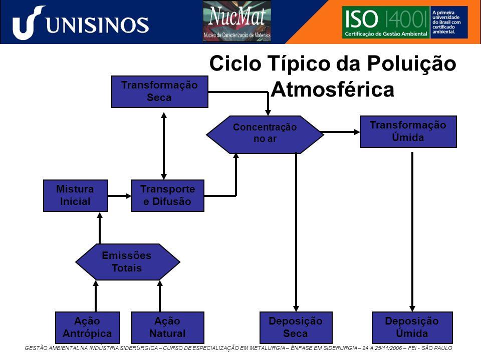 GESTÃO AMBIENTAL NA INDÚSTRIA SIDERÚRGICA – CURSO DE ESPECIALIZAÇÃO EM METALURGIA – ÊNFASE EM SIDERURGIA – 24 A 25/11/2006 – FEI - SÃO PAULO Ação Antr