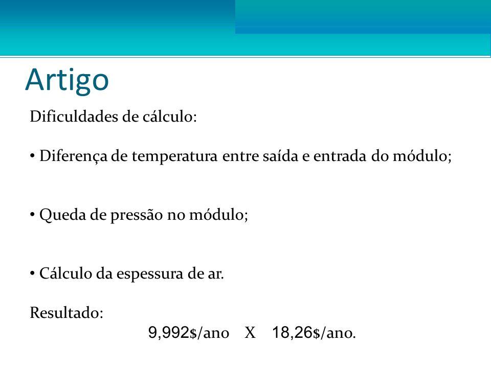 Otimização Resultados: Vazão ótima: 4,516 kg/s custo: 2,5909$ Comprimento Específico ótimo: 13,7199 custo: 7,3581 $ Ponto ótimo: 2.532e-16 m / 1.3015 / 3.6678 kg/s custo: 1.3750 $ Ponto ótimo restrito: 1e-5 m / 1.7262 / 4.1584 kg/s custo: 2.4913 $