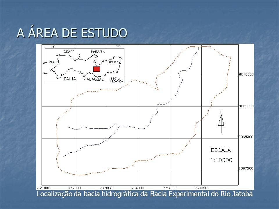 Localização da bacia hidrográfica da Bacia Experimental do Rio Jatobá A ÁREA DE ESTUDO