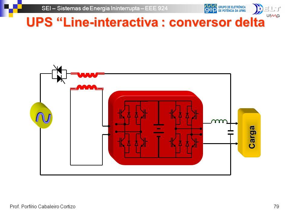 SEI – Sistemas de Energia Ininterrupta – EEE 924 Prof. Porfírio Cabaleiro Cortizo 78 UPS On-line