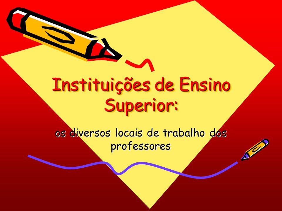 Instituições de Ensino Superior: os diversos locais de trabalho dos professores