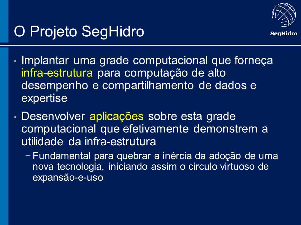 SegHidro O Projeto SegHidro Implantar uma grade computacional que forneça infra-estrutura para computação de alto desempenho e compartilhamento de dad