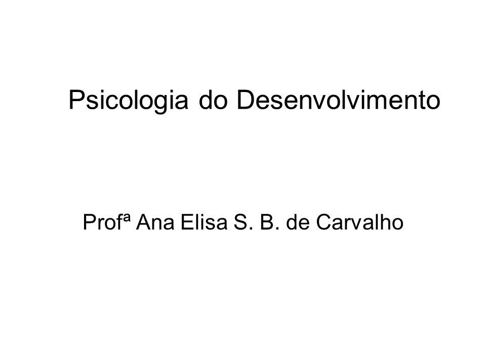 Psicologia do Desenvolvimento Profª Ana Elisa S. B. de Carvalho