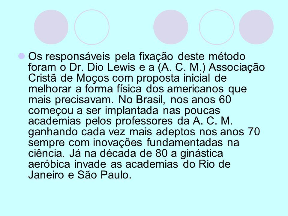 Os responsáveis pela fixação deste método foram o Dr. Dio Lewis e a (A. C. M.) Associação Cristã de Moços com proposta inicial de melhorar a forma fís