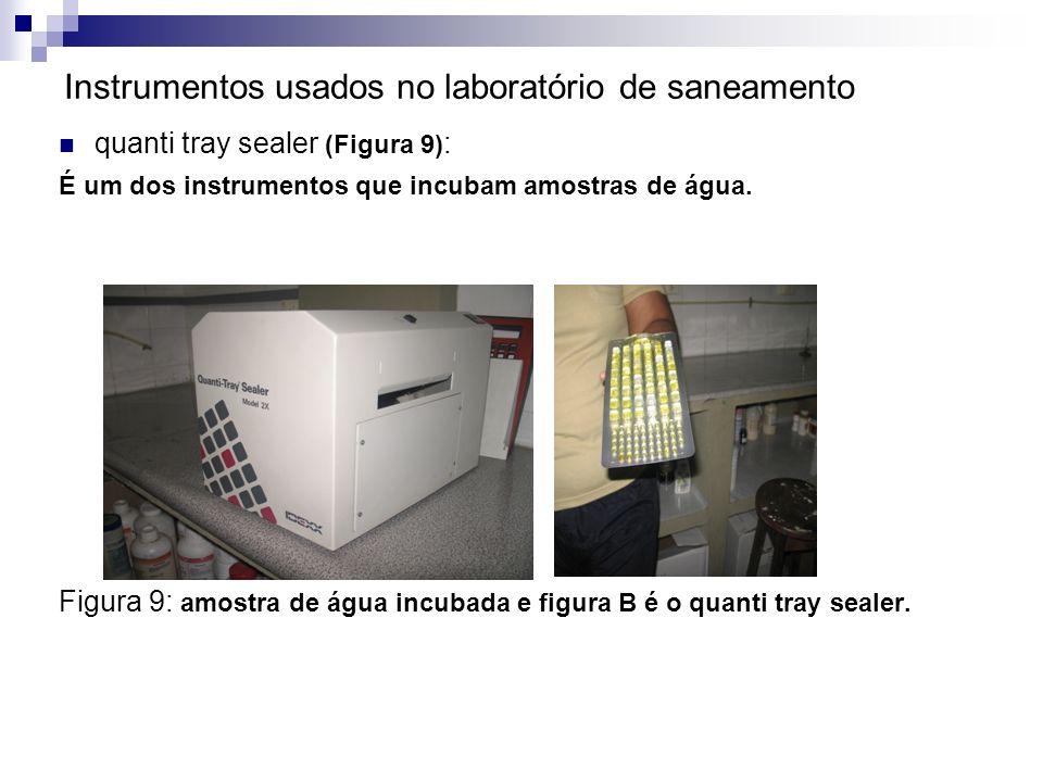 Instrumentos usados no laboratório de saneamento quanti tray sealer (Figura 9) : É um dos instrumentos que incubam amostras de água. Figura 9: amostra