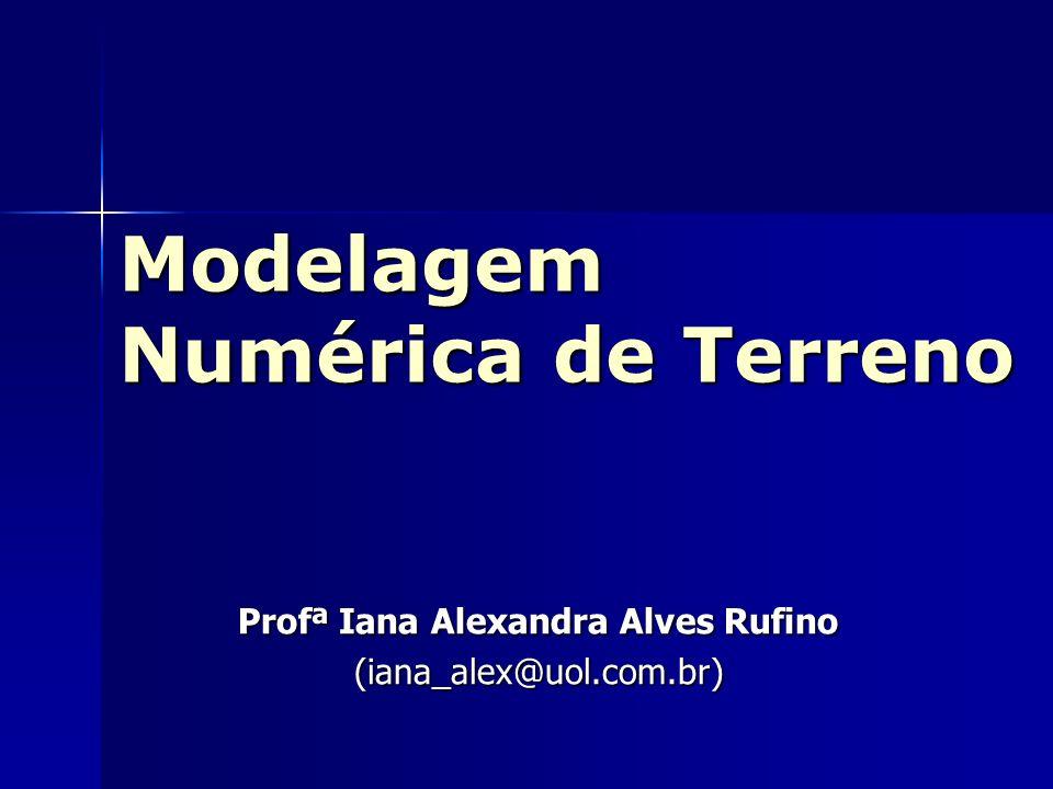 Modelagem Numérica de Terreno Profª Iana Alexandra Alves Rufino (iana_alex@uol.com.br)