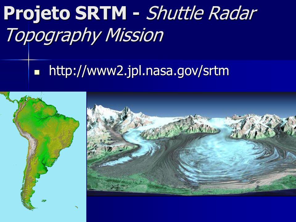 Projeto SRTM - Shuttle Radar Topography Mission http://www2.jpl.nasa.gov/srtm http://www2.jpl.nasa.gov/srtm
