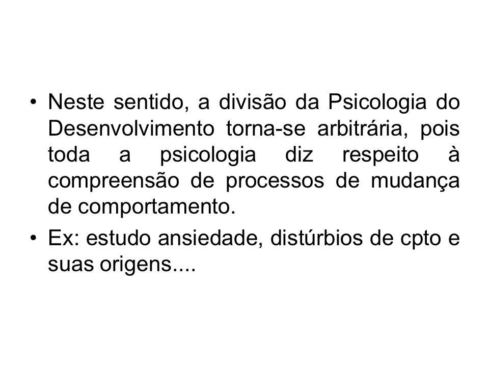 Psicologia do Desenvolvimento vincula- se: 1.Biologia 2.Genética 3.Antropologia 4.Sociologia 5.Psicopatologia 6.Psicologia Personalidade
