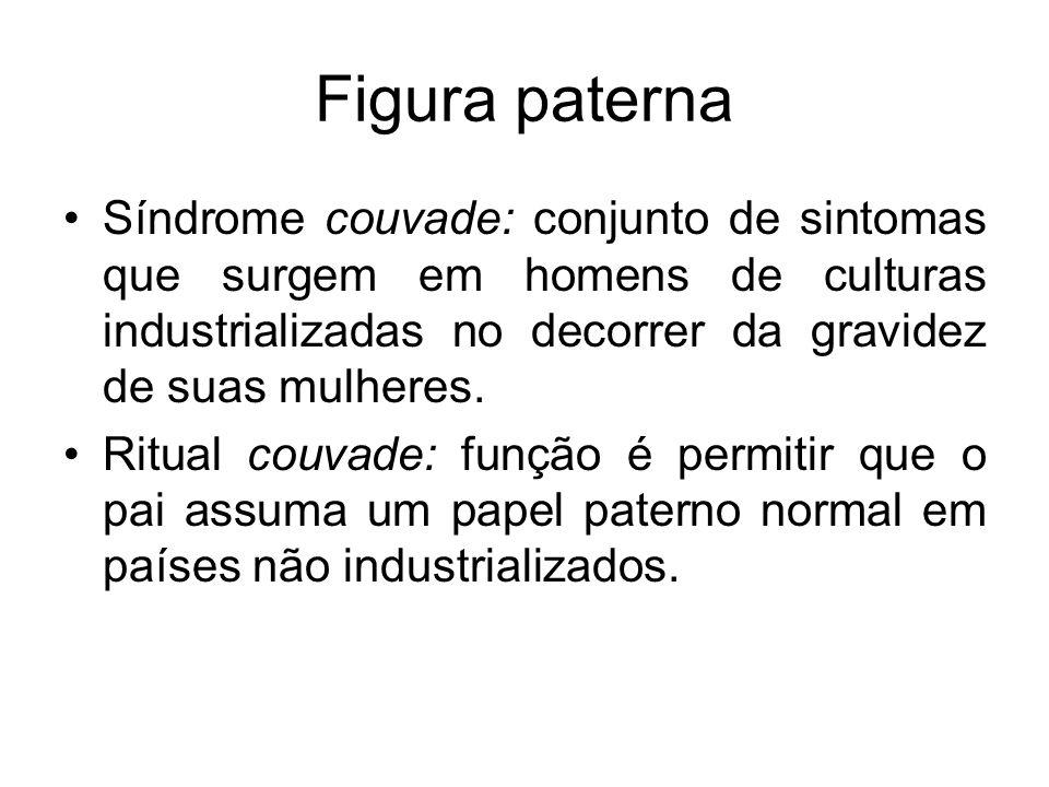Figura paterna Síndrome couvade: conjunto de sintomas que surgem em homens de culturas industrializadas no decorrer da gravidez de suas mulheres. Ritu