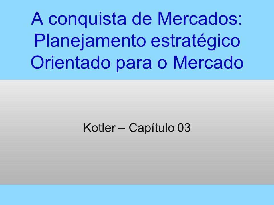 A conquista de Mercados: Planejamento estratégico Orientado para o Mercado Kotler – Capítulo 03