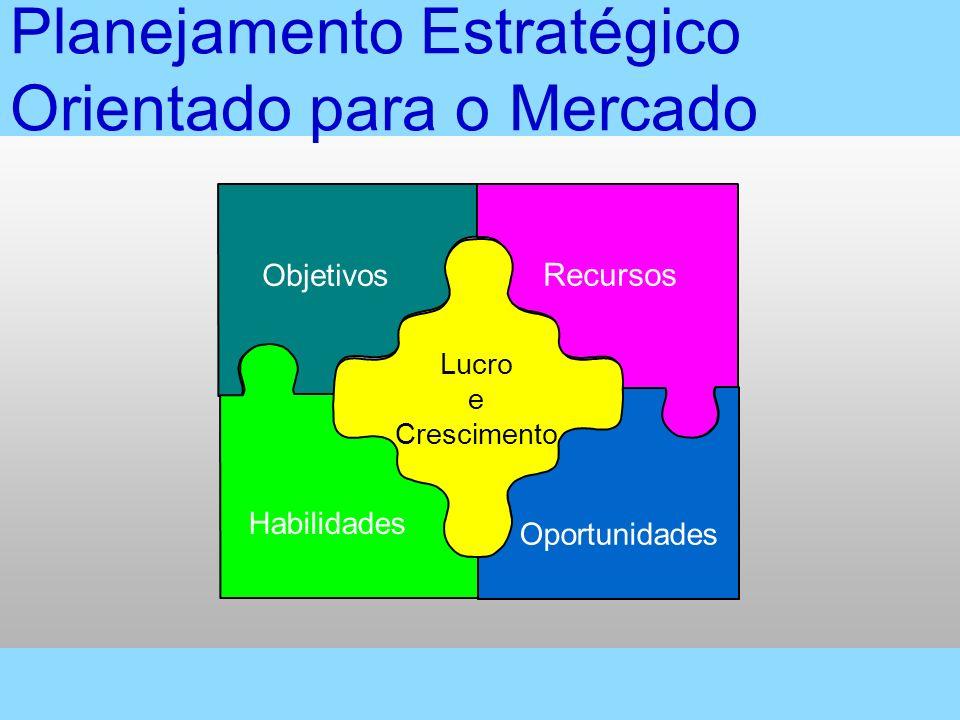 Planejamento Estratégico Orientado para o Mercado Objetivos Habilidades Recursos Oportunidades Lucro e Crescimento