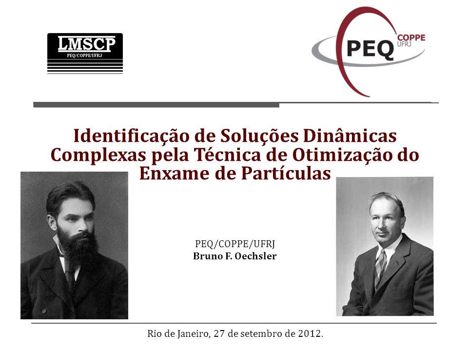 PEQ/COPPE/UFRJ Bruno F. Oechsler Rio de Janeiro, 27 de setembro de 2012. Identificação de Soluções Dinâmicas Complexas pela Técnica de Otimização do E