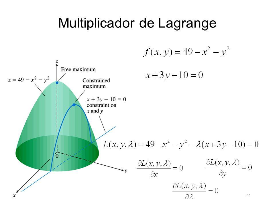 Multiplicador de Lagrange...