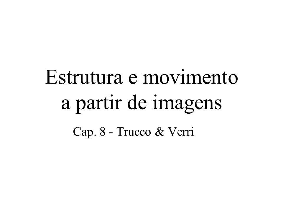 Estrutura e movimento a partir de imagens Cap. 8 - Trucco & Verri