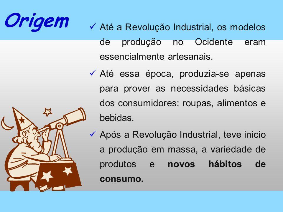 Origem Até a Revolução Industrial, os modelos de produção no Ocidente eram essencialmente artesanais. Até essa época, produzia-se apenas para prover a