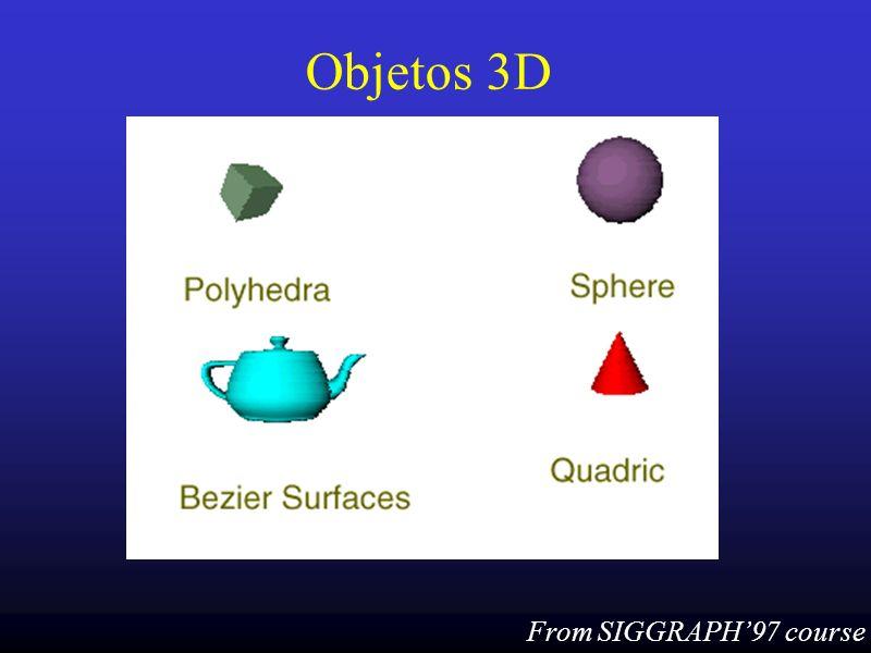 36 Cor como material Usando cor para definição de material glColorMaterial (GL_BACK_AND_FRONT, GL_AMBIENT_AND_DIFFUSE); glEnable (GL_COLOR_MATERIAL); … glColor3f (red, green, blue);...