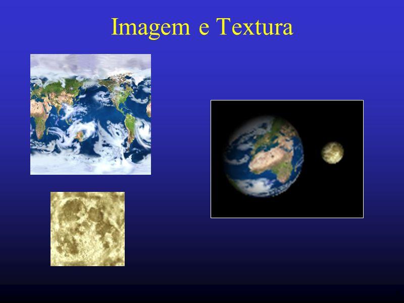 47 Coordenada de textura Para cada vértice –coordenada: identifica qual o pixel no buffer –coordenada de textura: identifica qual o texel Coordenadas de textura: s, t, r, q Coordenadas de textura são linearmente interpoladas entre vértices glTexCoord* (s, t, r, q); Intervalo [0,1], senão wrap.