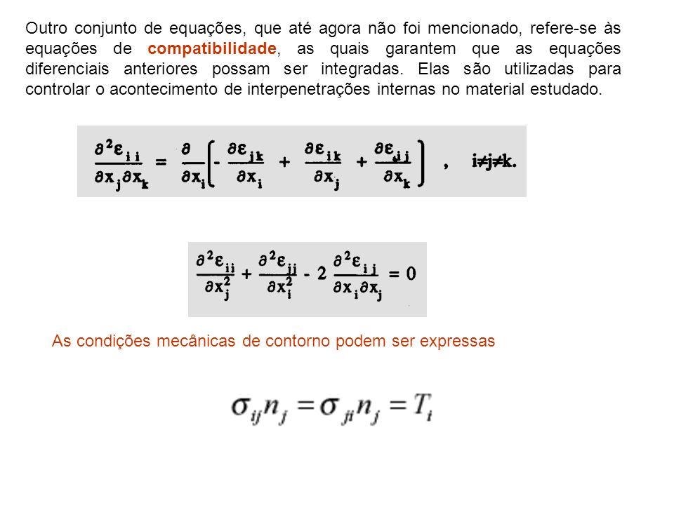 Outro conjunto de equações, que até agora não foi mencionado, refere-se às equações de compatibilidade, as quais garantem que as equações diferenciais