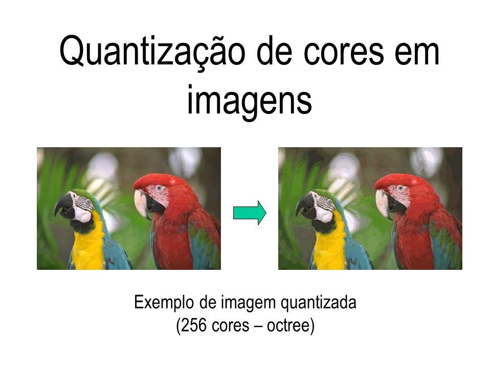 Quantização de cores em imagens Exemplo de imagem quantizada (256 cores – octree)