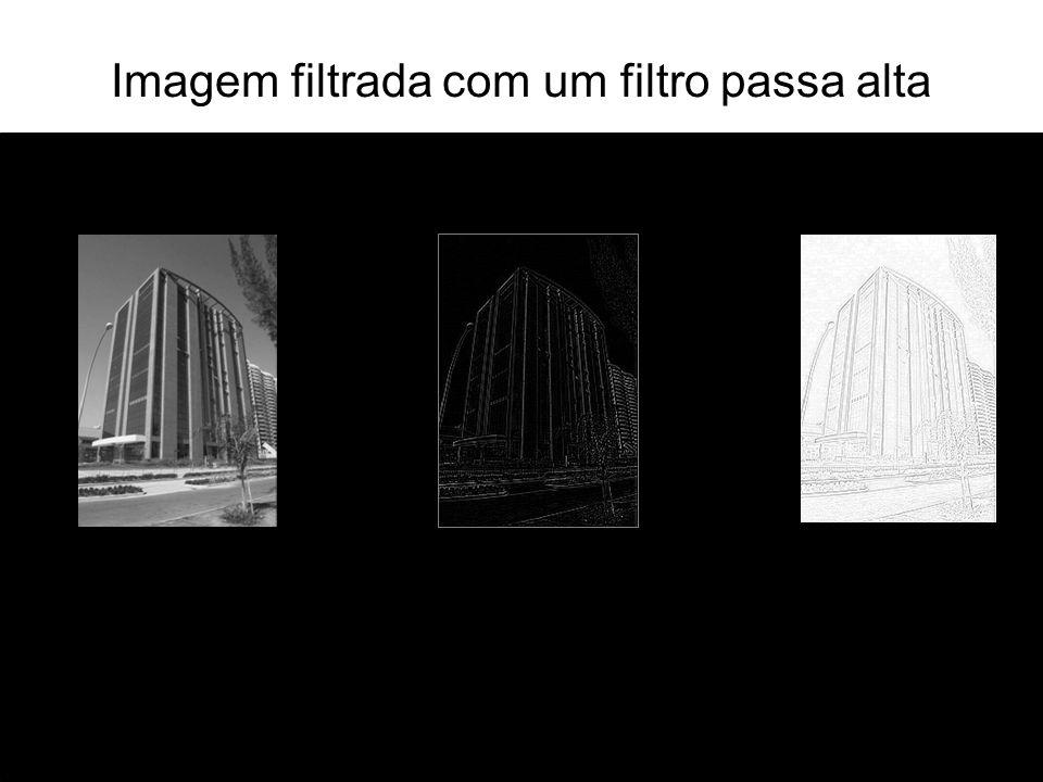 Filtragem no domínio espacial Filtragem no domínio espacial é obtida pela convolution (e vice-versa).