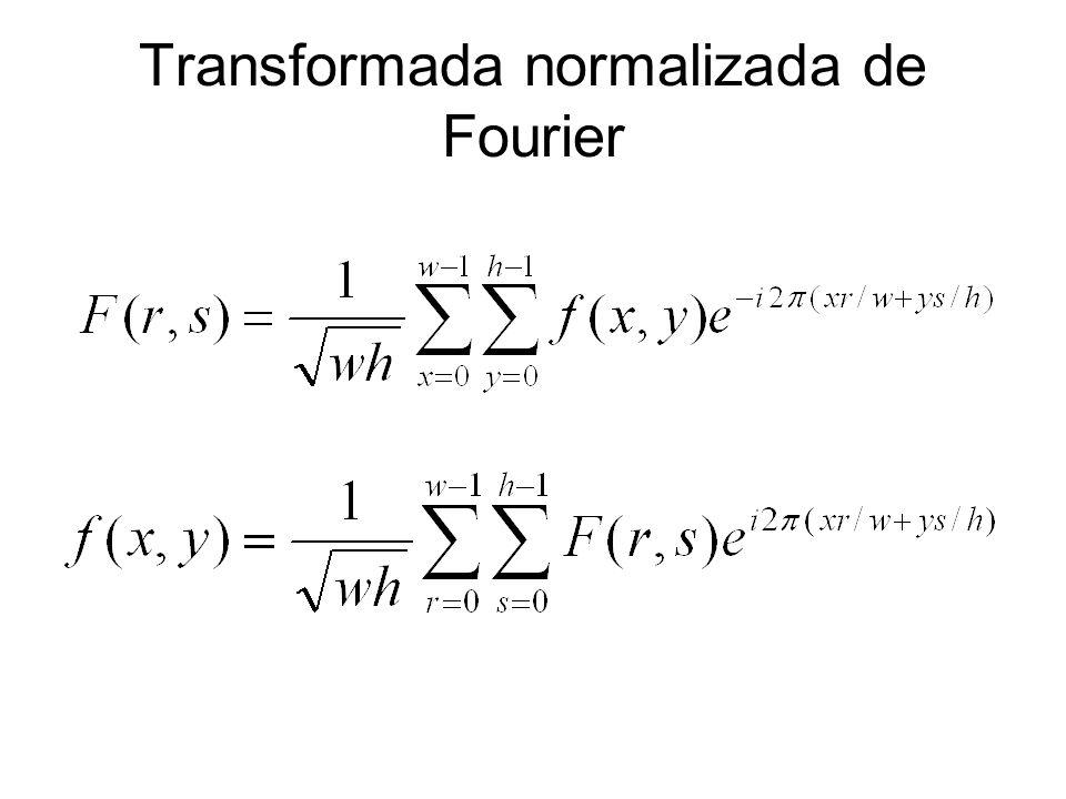Transformada normalizada de Fourier