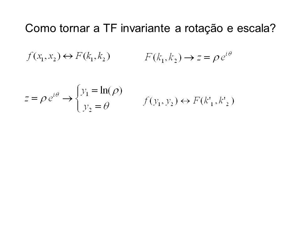 Como tornar a TF invariante a rotação e escala?